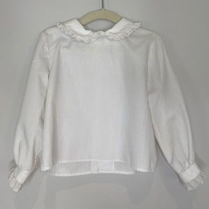 Long Sleeve White Blouse, Sz 4, Great Cond